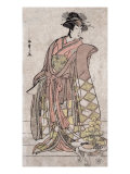 The Actor Segawa Kikunojo, Japanese Wood-Cut Print Print