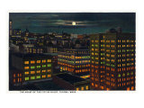 Tacoma, Washington, Heart of the City View at Night Prints