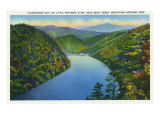 Great Smoky Mts National Park, TN, Aerial View of Calderwood Dam, Tennessee River Posters