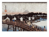 Rain over Nihonbashi, Japanese Wood-Cut Print Posters by  Lantern Press
