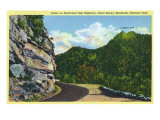 Great Smoky Mts National Park, TN, View of the Chimney Tops from Newfound Gap Hwy Prints