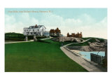 Newport, Rhode Island, Bailey's Beach View of the Cliffs Posters by  Lantern Press