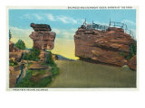Colorado Springs, CO, Garden of the Gods View of Balanced and Steamboat Rocks Posters by  Lantern Press