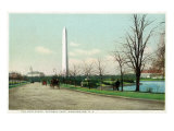 District of Columbia, Washington, Potomac Park Boulevard View of the WA Monument Posters by  Lantern Press