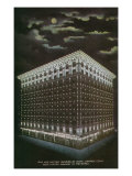 Denver, Colorado, Exterior View of the Gas and Electric Building at Night Poster by  Lantern Press