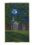 Lexington, Virginia, Exterior View of Washington and Lee University at Night Poster by  Lantern Press