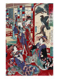 The Complete Views of Competing Brothel Houses, Japanese Wood-Cut Print Poster