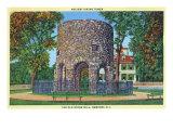 Newport, Rhode Island, View of the Old Stone Mill, Ancient Viking Tower Kunstdruck von  Lantern Press