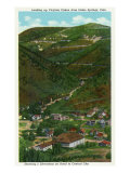 Idaho Springs, Colorado, Looking Up Virginia Canyon showing Road to Central City Print