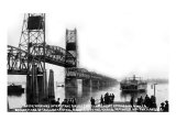 Vancouver, Washington, View of the Pacific Hwy Bridge going towards Portland, OR Prints by  Lantern Press