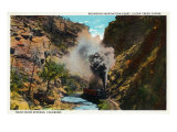 Colorado, Train Rounding Inspiration Point, Clear Creek Canyon near Idaho Springs Posters by  Lantern Press