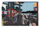 Tenman Shrine at Yushima, Japanese Wood-Cut Print Posters by  Lantern Press