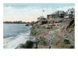 York, Maine, Beach Front View of Union Bluffs Prints by  Lantern Press