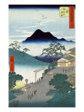 Rural Village with Mountains in the Background, Japanese Wood-Cut Print Prints by  Lantern Press