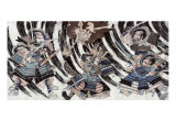 Minamoto Yorimitsu and the Head of the Demon Shutendoji, Japanese Wood-Cut Print Print