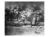 Fredericksburg, VA, Burying the Dead at the Hospital, Civil War Art
