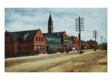 Ogden, Utah, Exterior View of Union Depot Prints by  Lantern Press