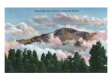 Colorado, View of Pikes Peak among the Clouds Prints by  Lantern Press