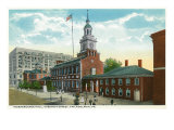 Philadelphia, Pennsylvania, Exterior View of Independence Hall, Chestnut Street Art by  Lantern Press
