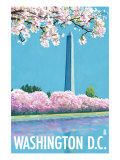 Washington DC, Washington Monument Kunstdrucke von  Lantern Press