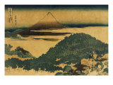 The Cushion Pine at Aoyama with Mount Fuji in the Distance, Japanese Wood-Cut Print Prints