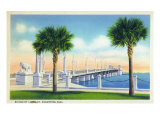 St. Augustine, Florida, View of the Bridge of Lions Prints by  Lantern Press