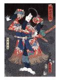Actor Ichikawa Danjuro VIII as Kaja Yoshitaka, Japanese Wood-Cut Print Posters by  Lantern Press