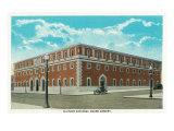 Peoria, Illinois, Exterior View of the Illinois National Guard Armory Prints by  Lantern Press