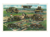 Fort Knox, Kentucky, View of the Units of the Armored Force Division, Tanks and Trucks Poster by  Lantern Press