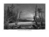 Catskill Mountains, New York, Winter Scene above the Kaaterskill Falls Print by  Lantern Press