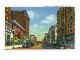 Davenport, Iowa, Eastern View down Second Street Prints by  Lantern Press