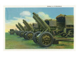 Fort Knox, Kentucky, View of a Battery of 75-Howitzers Prints by  Lantern Press