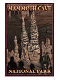 Mammoth Cave National Park, Kentucky, Onxy Pillars Posters by  Lantern Press