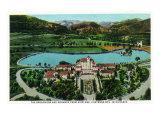 Colorado Springs, Colorado, Aerial View of Broadmoor Hotel and Grounds Art