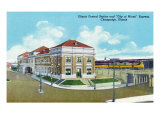 "Champaign, Illinois, Exterior View of Illinois Central Train Station, ""City of Miami"" Express Prints by  Lantern Press"