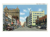 Buffalo, New York, View Down Main Street Posters by  Lantern Press
