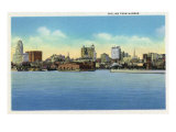 Buffalo, New York, View of the City Skyline from the Harbor Prints by  Lantern Press