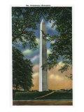 Washington DC, Exterior View of the Washington Monument Prints