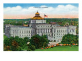 Washington DC, Exterior View of the Library of Congress Prints