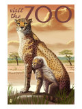 Visit the Zoo, Cheetah View Prints by  Lantern Press