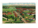 Fort Knox, Kentucky, Aerial View of the Entrance Drive, 1st Cavalry Barracks Posters by  Lantern Press