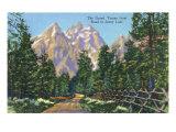 Grand Teton National Park, Wyoming, Road to Jenny Lake View of the Grand Tetons Print