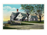 Peoria, Illinois, Exterior View of the Country Club at Prospect Heights Print by  Lantern Press