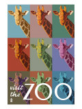 Visit the Zoo, Giraffe as Pop Art Posters by  Lantern Press