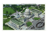 Washington, DC, Aerial View of the US Capitol and Grounds Posters