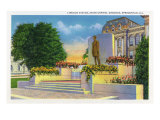 Springfield, Illinois, View of the Lincoln Statue on the State Capitol Grounds Prints by  Lantern Press