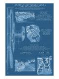 Seattle, Washington, Ballard Locks Technical Blueprint Prints by  Lantern Press