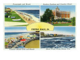 Virginia Beach, Virginia, Famous Scenes of the City Posters by  Lantern Press