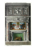 Washington DC, Library of Congress, Law Rep Reading Room Mosaic Mantel Interior View Prints
