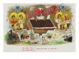 Big Run Brand Cigar Box Label, Sports Print by  Lantern Press